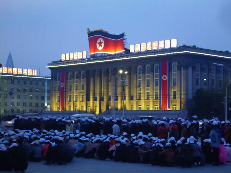 Praça central Pyongyang Coreia do Norte