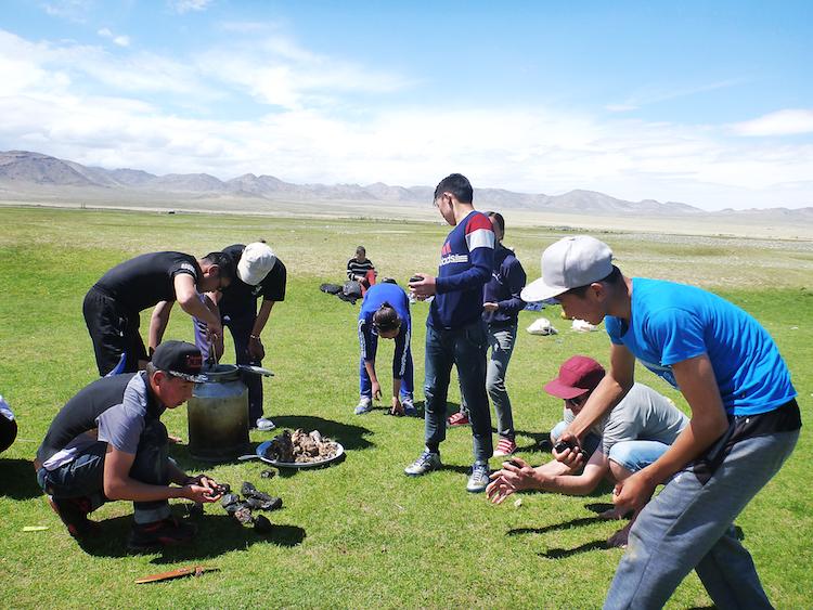 Churrasco na Mongólia