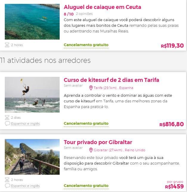 Melhores passeios em Ceuta