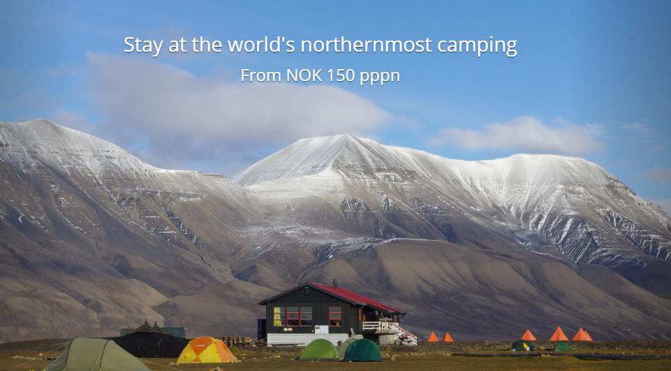 Svalbard Longyearbyen camping Noruega